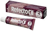 Рефектоцил №4 Каштановая - краска для бровей и ресниц RefectoCil 15 мл
