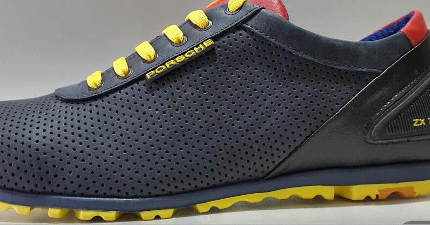 Мужские кроссовки Adidas Porsche Design.Кожа,перфорация