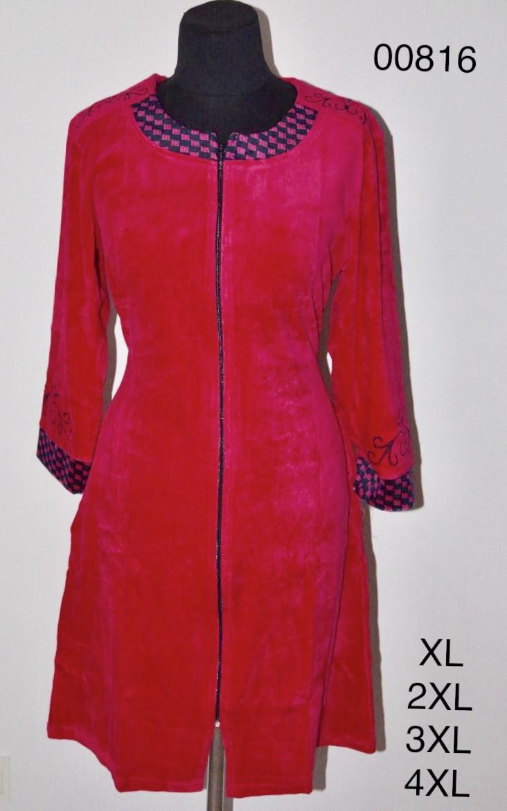 Велюровый халат оптом больших размеров женский