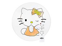 Детская светодиодная люстра с пультом 50Вт Hello Kitty