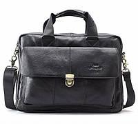 Класический мужской кожаный портфель Cross Ox для ноутбука, планшета, документов из натуральной кожи
