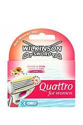 Wilkinson Sword Quattro Набор сменных лезвий For Woman 1ст+3л мл Код 11355