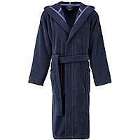 Махровый мужской халат с капюшоном JOOP! синий