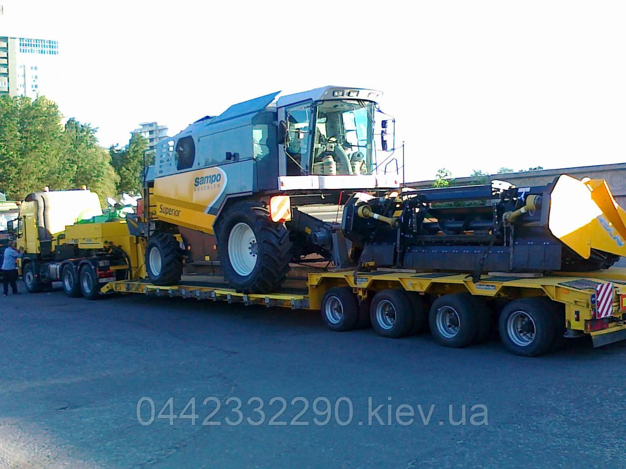 Перевозка сельскохозяйственной техники - Украина