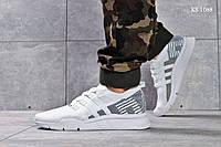 Мужские кроссовки Adidas EQT Support, сетка, пена белые с серым