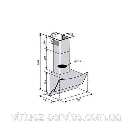 Вытяжка VENTOLUX WAVE 90 BK (1000) TRC IT, фото 2