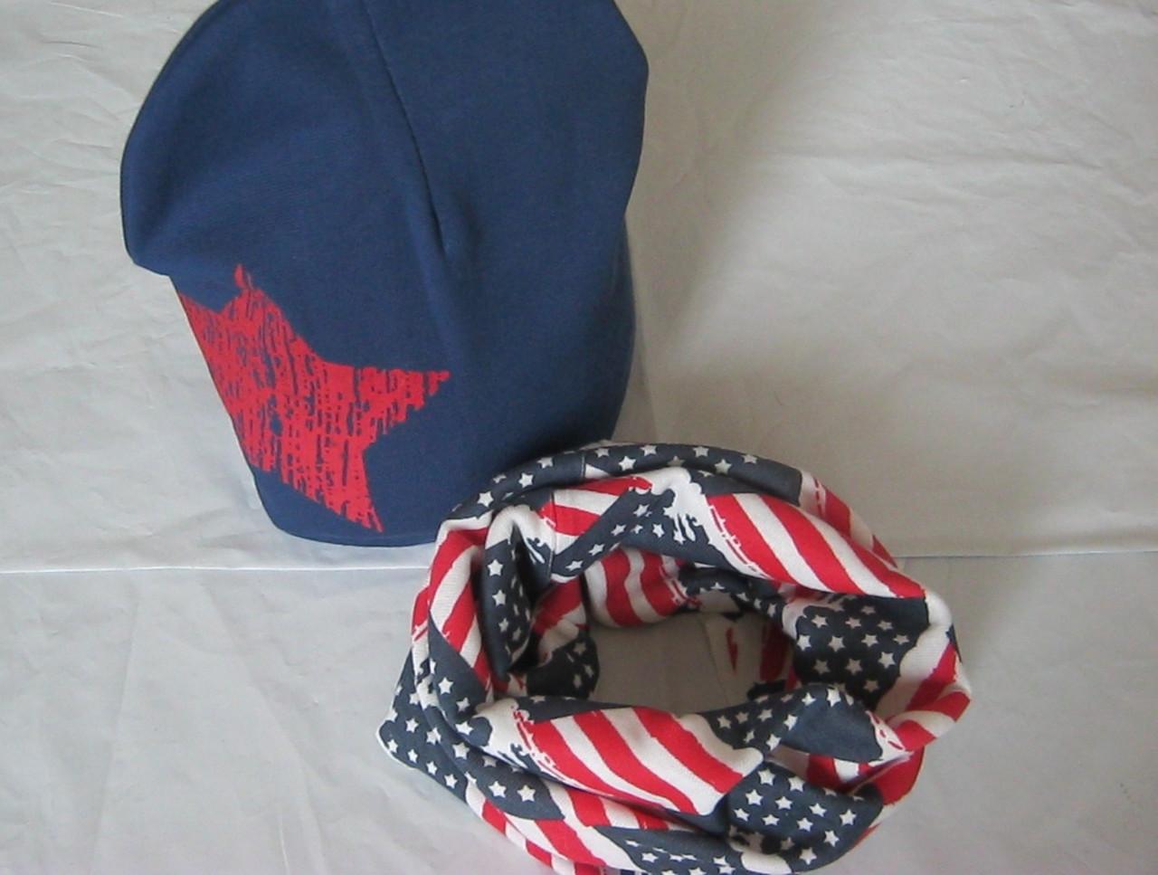 Наборчик для мальчиков и девочек шапка+ шарф хомут