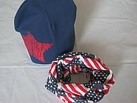 Наборчик для мальчиков и девочек шапка+ шарф хомут, фото 1