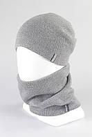 Комплект женский шапка снуд KANTAA св.серый
