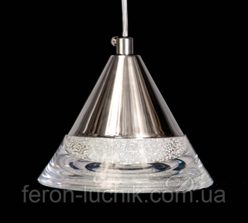 Світлодіодний світильник підвісний 6W 7076-1 хром