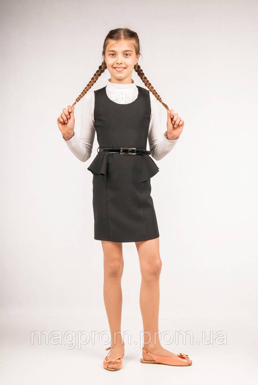 Стильное платье с баской со скидкой