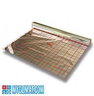 Фольга для монтажа тёплого пола с разметкой (без изоляции) 50 метров