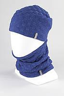 Комплект молодежный шапка шарф хомут KANTAA электрик