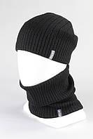 Комплект шапка + бафф хомут KANTAA оптом черный