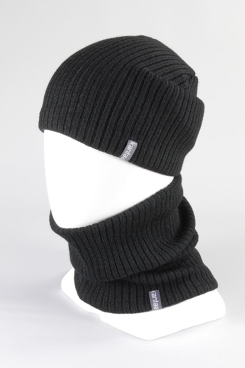 Набор шапка + бафф KANTAA черный