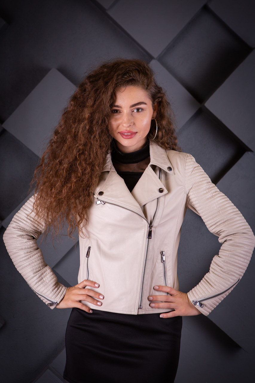 Кожаная куртка Oscar Fur 548 Бежевый