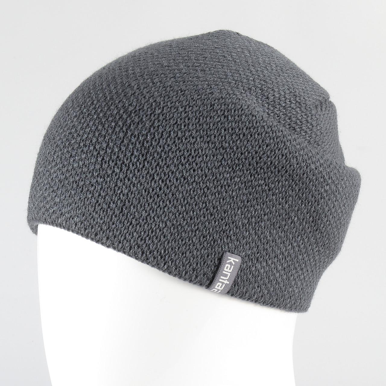 Мужская шапка серый