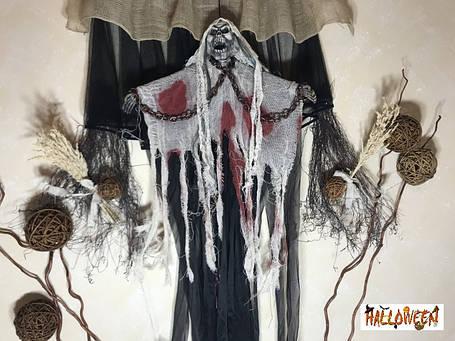 """Декор """"Мумія в білому з ланцюгами, криком і світиться очима"""", фото 2"""