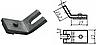 Контакт силовой к контактору КПД-114(КПП-114 ТКПД-114) неподвижный, медь