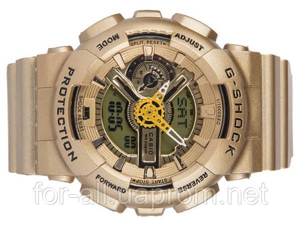 Золотистые наручные часы Casio G-Shock ga-110 CA11875 для дорогих нам людей)
