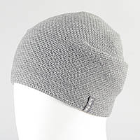Вязанная шапка св.серый