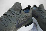 Бігові кросівки nike flyknit epic react (оригінал), 36, 37,5-38 розмір, хакі, фото 9