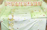 Комплект детского постельного белья в кроватку 3 эл. Пчелки наволочка, простынь, пододеяльник