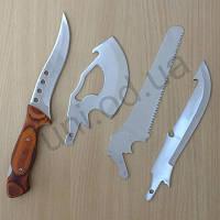 Туристический набор ножей 4 в 1 с пилой и топором
