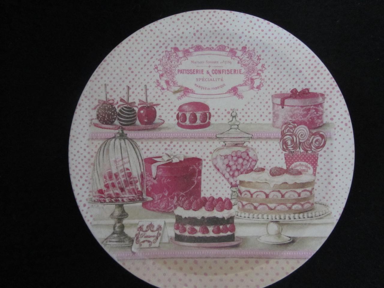 Тарелка деревянная с тематическими рисунками, d-18 см, 90\80 (цена за 1 шт.+10 грн)