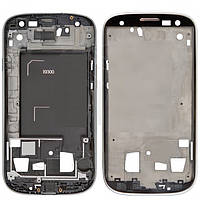 Рамка крепления дисплея для Samsung Galaxy S3 i9300 (серая)
