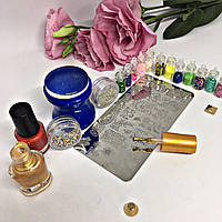 Маникюрный набор для дизайна ногтей Стемпинг XL