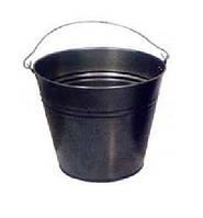 Ведро металлическое черное