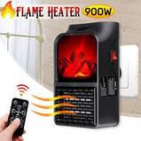 Портативний обігрівач Flame Heater New 900W з імітацією каміна, LCD-дисплеєм і пультом, фото 2