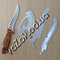Туристический набор Егерь 4 в 1 со сменными насадками (2 ножа, пила, топор, рукоятка) в чехле, фото 1