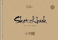 Альбом для эскизов А4 50 листов, спираль крафт-картон Prof-art Школярик
