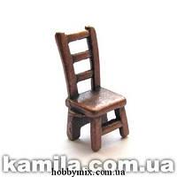 """Метал. подвеска """"стульчик 3D"""" медь (0,8х1,8 см) 6 шт в уп."""