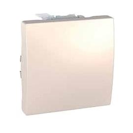 Кнопочный выключатель 1-кл., сл. кость. Unica MGU3.206.25