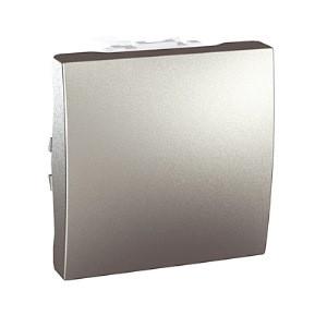 Кнопковий вимикач 1-кл., алюміній. Unica Top MGU3.206.30