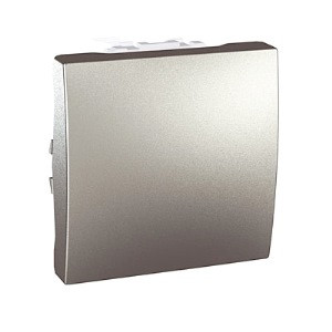Кнопочный выключатель 1-кл., алюминий. Unica Top MGU3.206.30