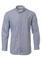 Оригинальная рубашка с мелким принтом от Pierre Cardin