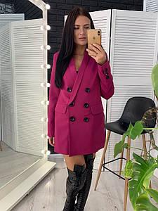 Стильный женский удлиненный пиджак на пуговицах 42-46 р