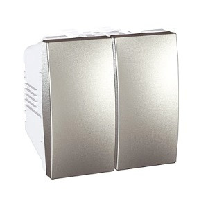 Выключатель 2-кл., алюминий. Unica Top MGU3.211.30