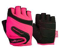 Перчатки для фитнеса PowerPlay 1729 женские XS Pink-black
