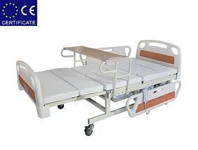 Медицинская функциональная электро кровать с туалетом E39. Большой размер (длина). Кровать для инвалида., фото 3
