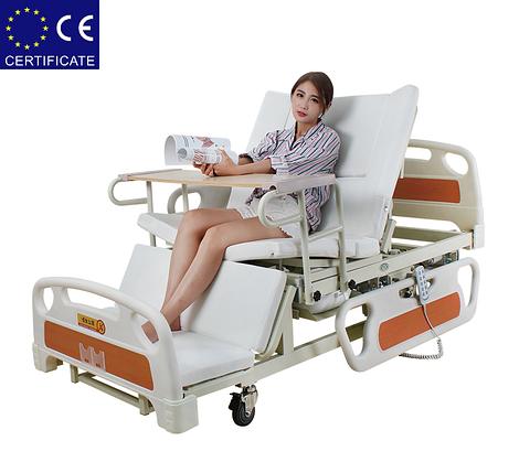 Медицинская функциональная электро кровать с туалетом E39. Большой размер (длина). Кровать для инвалида., фото 2