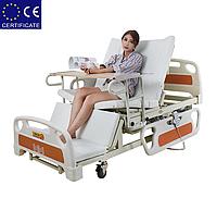 Медицинская кровать с туалетом E39. Большой размер. Функциональная кровать. Кровать для инвалида.
