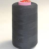 Черные швейные нитки 777