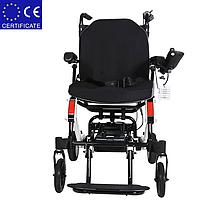 Легкая складная алюминиевая электроколяска для инвалидов DLY-6033. Инвалидная коляска., фото 3