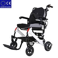 Легкая складная алюминиевая электроколяска для инвалидов DLY-6033. Инвалидная коляска.