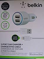 Автомобильное зарядное устройство для iPhone 6/6+/5, 5s / iPad air Belkin